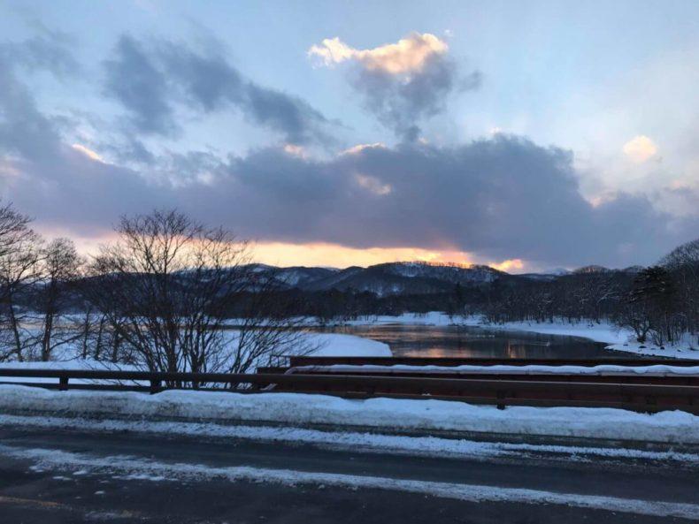 北海道,大沼国定公園,冬,景色,絶景