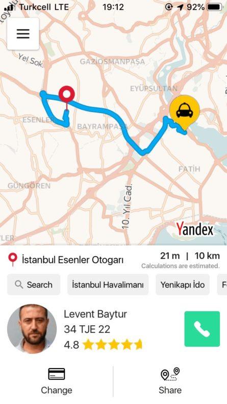トルコ,配車アプリ,タクシー,bitaksi,オススメ