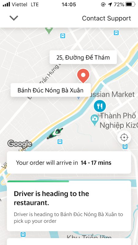 grabcar, grabfood,ベトナム,デリバリー,体験談