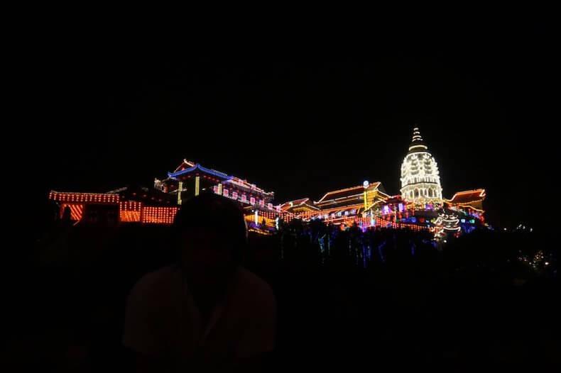 マレーシア,ペナン島,観光,極楽寺,夜景