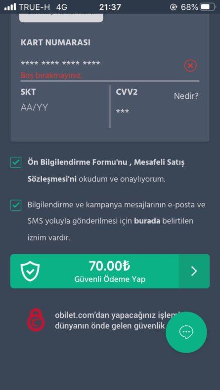 トルコ,長距離バス,アプリ,obilet.com,予約方法
